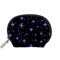 Bright Purple   Stars In Space Accessory Pouches (small)  by Costasonlineshop