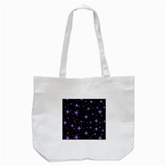 Bright Purple   Stars In Space Tote Bag (white) by Costasonlineshop