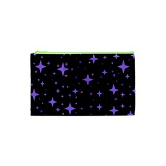 Bright Purple   Stars In Space Cosmetic Bag (xs) by Costasonlineshop