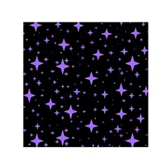 Bright Purple   Stars In Space Small Satin Scarf (square) by Costasonlineshop