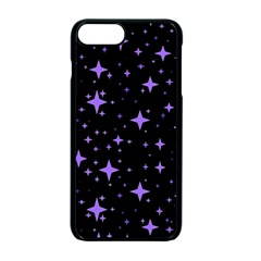 Bright Purple   Stars In Space Apple Iphone 7 Plus Seamless Case (black) by Costasonlineshop