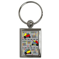 Toy Cars Key Chains (rectangle)  by Valentinaart