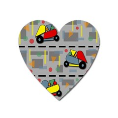 Toy Cars Heart Magnet by Valentinaart