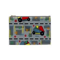 Toy Cars Cosmetic Bag (medium)  by Valentinaart