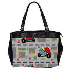 Toy Cars Office Handbags (2 Sides)  by Valentinaart
