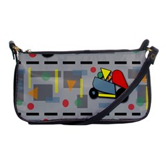 Toy Cars Shoulder Clutch Bags