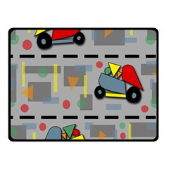 Toy Cars Fleece Blanket (small) by Valentinaart