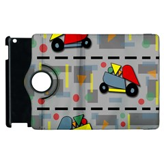 Toy Cars Apple Ipad 2 Flip 360 Case by Valentinaart