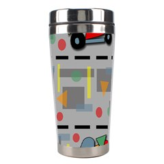 Toy Cars Stainless Steel Travel Tumblers by Valentinaart