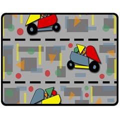 Toy Cars Double Sided Fleece Blanket (medium)  by Valentinaart