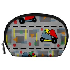 Toy Cars Accessory Pouches (large)  by Valentinaart