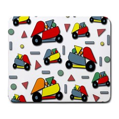 Toy Cars Pattern Large Mousepads by Valentinaart