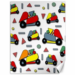Toy Cars Pattern Canvas 36  X 48   by Valentinaart