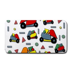 Toy Cars Pattern Medium Bar Mats by Valentinaart