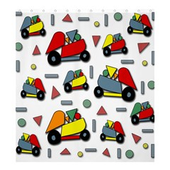 Toy Cars Pattern Shower Curtain 66  X 72  (large)