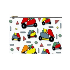 Toy Cars Pattern Cosmetic Bag (large)