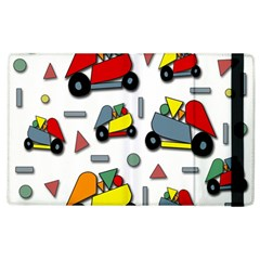 Toy Cars Pattern Apple Ipad 3/4 Flip Case by Valentinaart