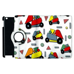 Toy Cars Pattern Apple Ipad 3/4 Flip 360 Case by Valentinaart