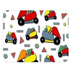 Toy Cars Pattern Double Sided Flano Blanket (large)