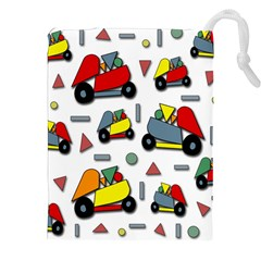 Toy Cars Pattern Drawstring Pouches (xxl) by Valentinaart