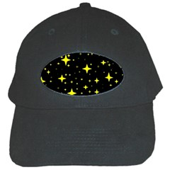 Bright Yellow   Stars In Space Black Cap by Costasonlineshop