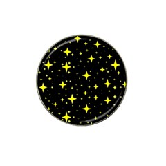 Bright Yellow   Stars In Space Hat Clip Ball Marker (4 Pack) by Costasonlineshop