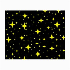 Bright Yellow   Stars In Space Small Glasses Cloth by Costasonlineshop