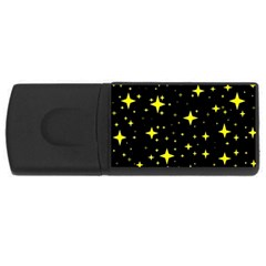 Bright Yellow   Stars In Space Usb Flash Drive Rectangular (4 Gb)  by Costasonlineshop