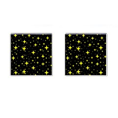 Bright Yellow   Stars In Space Cufflinks (square) by Costasonlineshop