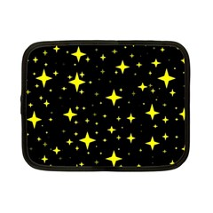 Bright Yellow   Stars In Space Netbook Case (small)  by Costasonlineshop