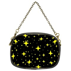 Bright Yellow   Stars In Space Chain Purses (one Side)  by Costasonlineshop