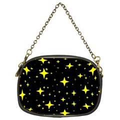 Bright Yellow   Stars In Space Chain Purses (two Sides)  by Costasonlineshop