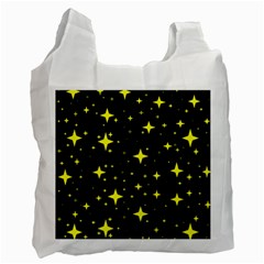 Bright Yellow   Stars In Space Recycle Bag (two Side)  by Costasonlineshop