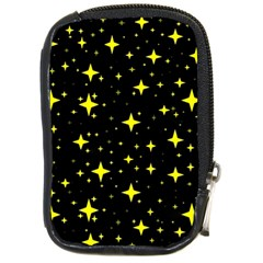 Bright Yellow   Stars In Space Compact Camera Cases by Costasonlineshop