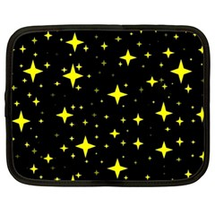 Bright Yellow   Stars In Space Netbook Case (xl)  by Costasonlineshop