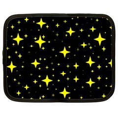 Bright Yellow   Stars In Space Netbook Case (xxl)  by Costasonlineshop