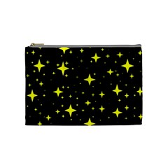 Bright Yellow   Stars In Space Cosmetic Bag (medium)  by Costasonlineshop