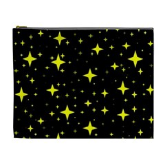 Bright Yellow   Stars In Space Cosmetic Bag (xl) by Costasonlineshop