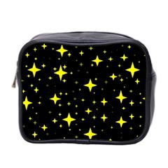 Bright Yellow   Stars In Space Mini Toiletries Bag 2 Side by Costasonlineshop