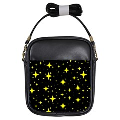 Bright Yellow   Stars In Space Girls Sling Bags by Costasonlineshop