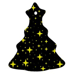 Bright Yellow   Stars In Space Christmas Tree Ornament (2 Sides)