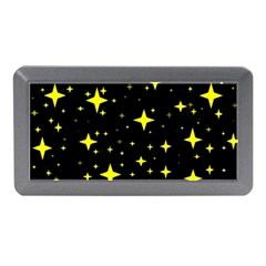 Bright Yellow   Stars In Space Memory Card Reader (mini) by Costasonlineshop