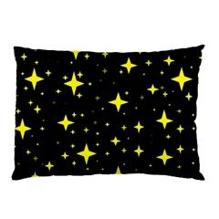 Bright Yellow   Stars In Space Pillow Case (two Sides) by Costasonlineshop