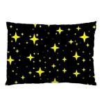 Bright Yellow   Stars In Space Pillow Case (Two Sides) Back