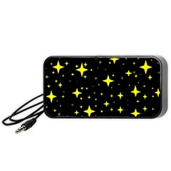 Bright Yellow   Stars In Space Portable Speaker (black)  by Costasonlineshop
