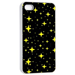 Bright Yellow   Stars In Space Apple Iphone 4/4s Seamless Case (white) by Costasonlineshop