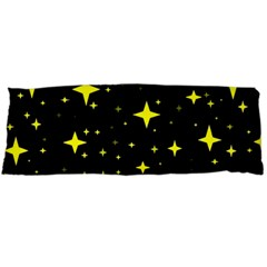 Bright Yellow   Stars In Space Body Pillow Case Dakimakura (two Sides) by Costasonlineshop