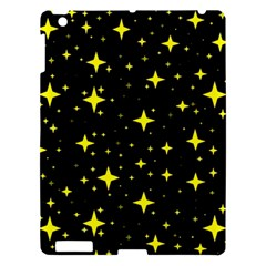 Bright Yellow   Stars In Space Apple Ipad 3/4 Hardshell Case by Costasonlineshop