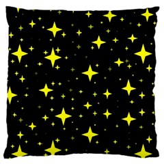 Bright Yellow   Stars In Space Large Cushion Case (one Side) by Costasonlineshop