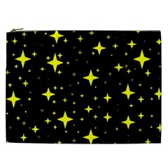 Bright Yellow   Stars In Space Cosmetic Bag (xxl)  by Costasonlineshop